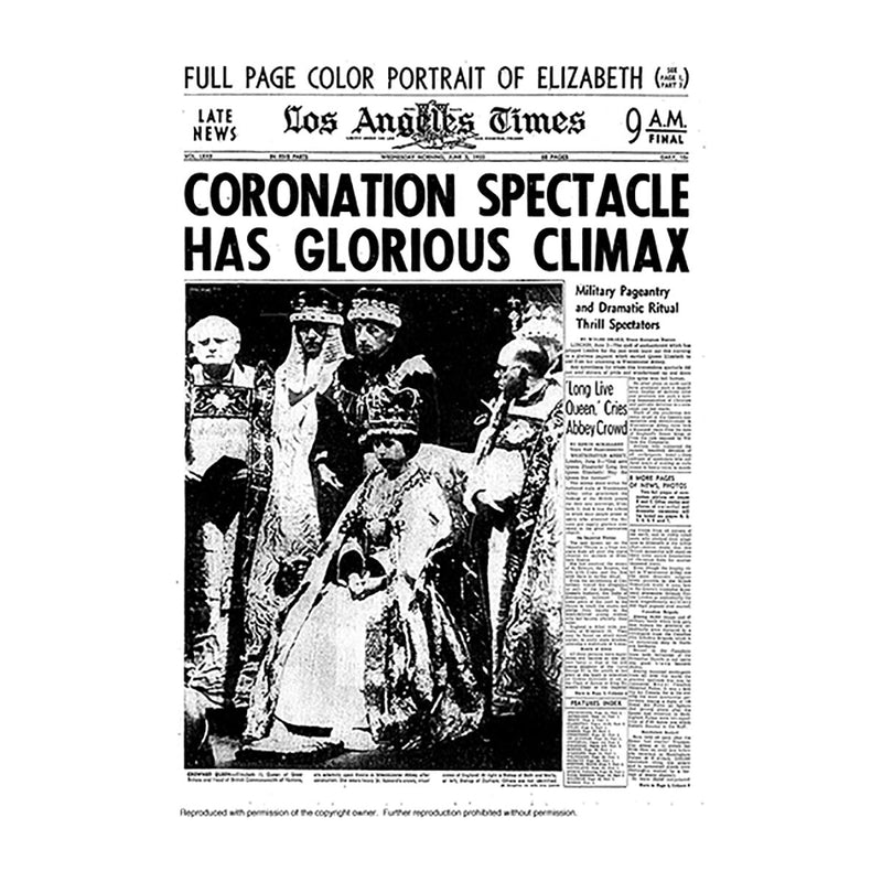 Historical Front Page - Coronation Spectacle