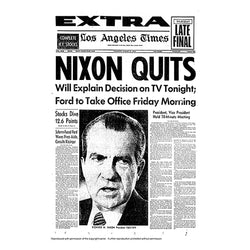 Historical Front Page - Nixon Quits
