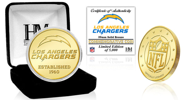 Los Angeles Chargers Bronze Coin