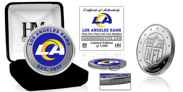 Los Angeles Rams Silver Coin