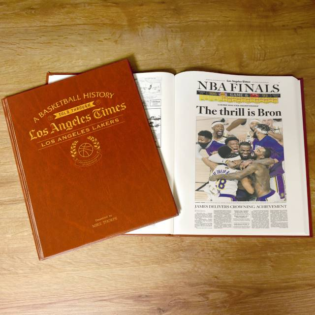 LA Times Los Angeles Lakers Newspaper Book