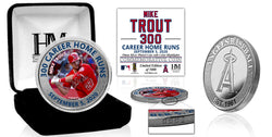 Mike Trout 300 Career Home Runs Silver Mint Coin
