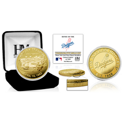 Los Angeles Dodgers Stadium Gold Mint Coin