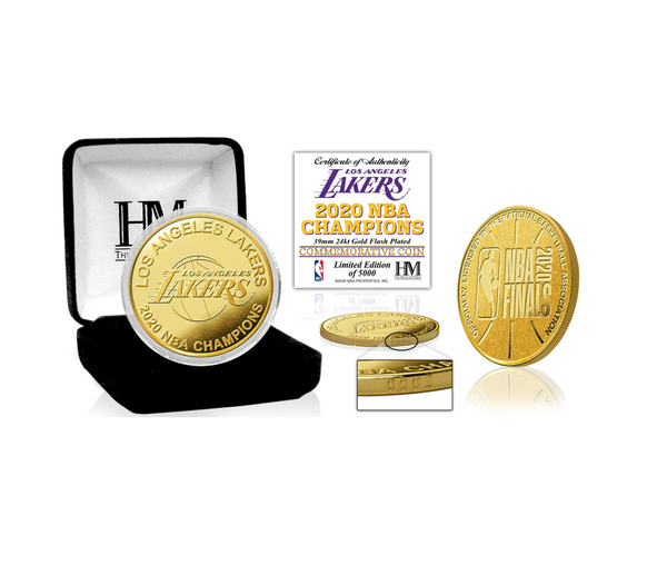 Los Angeles Lakers 2020 NBA Finals Champions Gold Mint Coin