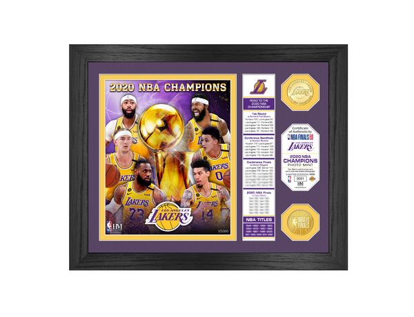 Lakers 2020 NBA Finals Champions Banner Bronze Coin Photo Mint