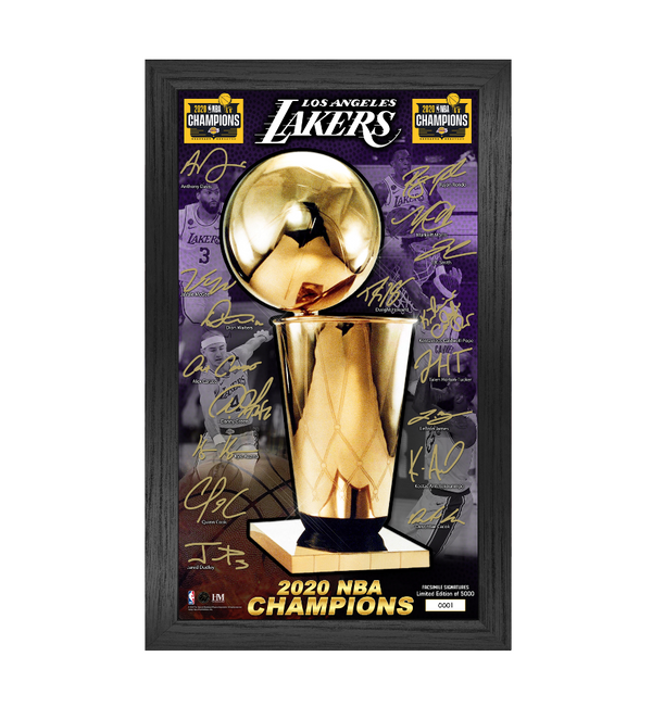Los Angeles Lakers 2020 NBA Finals Champions Signature Trophy