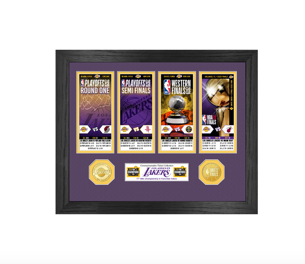 Los Angeles Lakers 2020 NBA Finals Champions Ticket Collection
