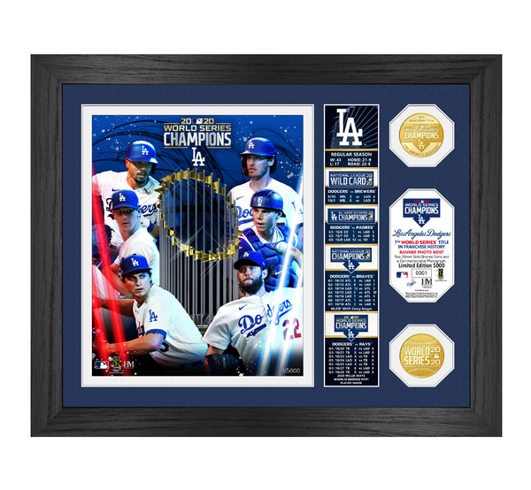 "Dodgers 2020 World Series Champions ""Banner"" Bronze Coin Photo Mint"