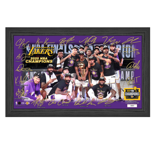 "Lakers 2020 NBA Finals Champions ""Celebration"" Signature Court"