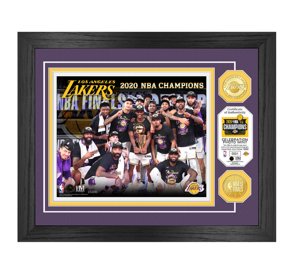 Los Angeles Lakers 2020 NBA Finals Champions Celebration Bronze Coin Photo Mint