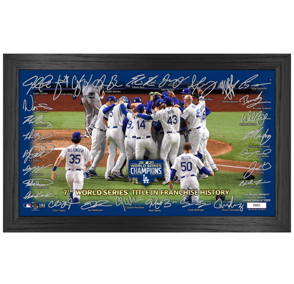 "Dodgers 2020 World Series Champions ""Celebration"" Signature Field"