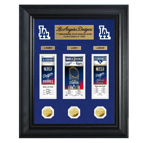 Dodgers 2020 World Series Champions Deluxe Gold Coin & Event Carnet Collection