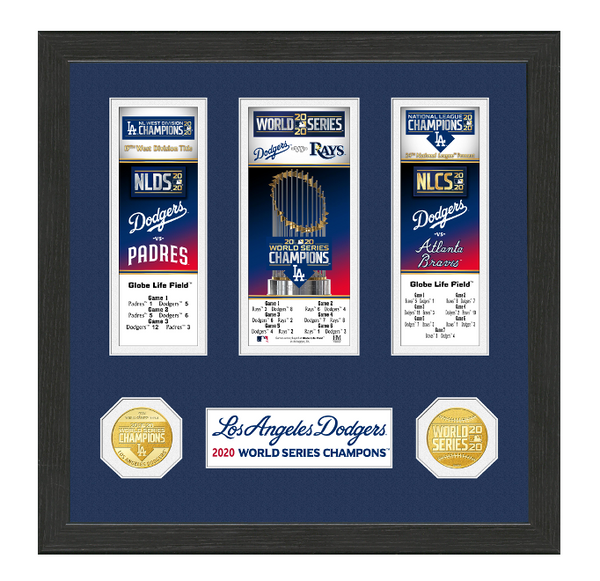 Dodgers 2020 World Series Champions Event Carnet Collection