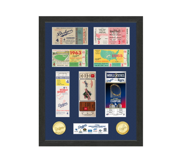 Dodgers 7-Time World Series Champions Ticket Collection