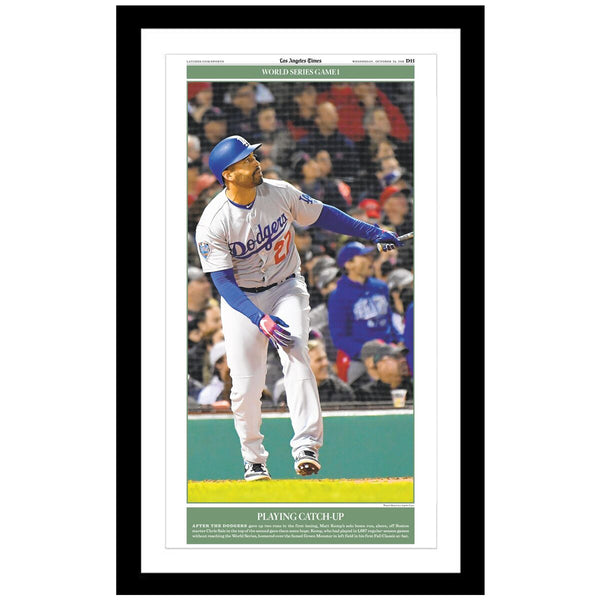 Los Angeles Dodges Matt Kemp Homer Custom Page Print