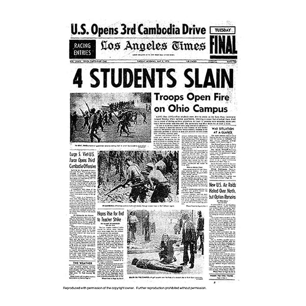 Historical Front Page - 4 Students Slain