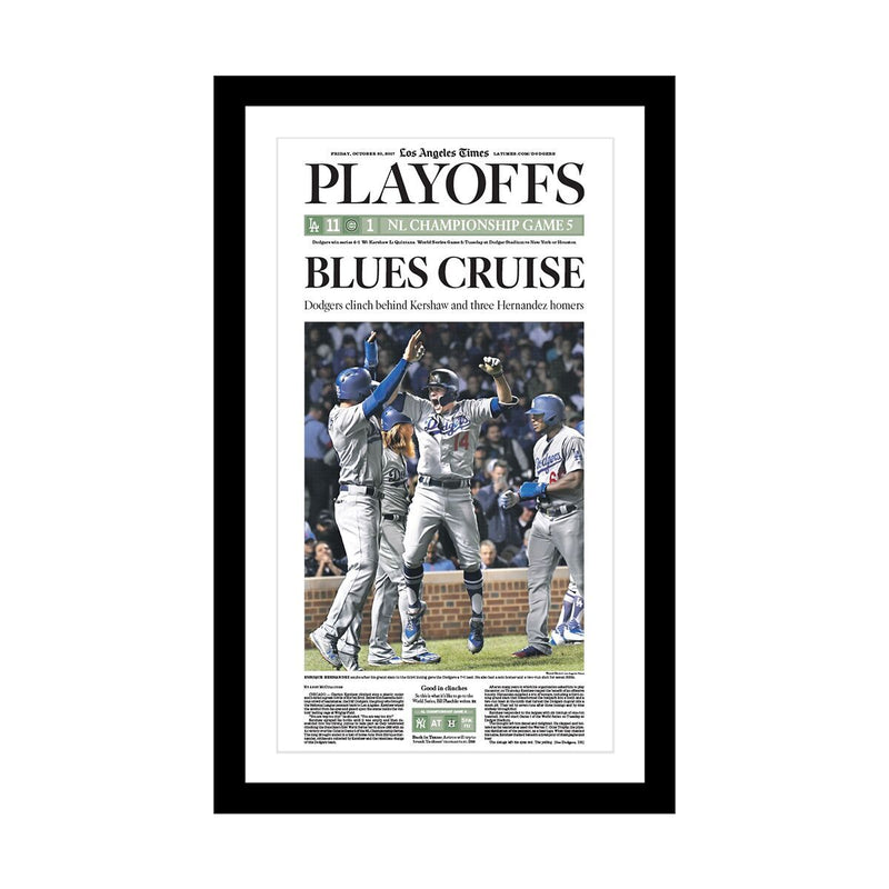 Los Angeles Dodgers NLCS 10/19/2017 Sports Front Page Print