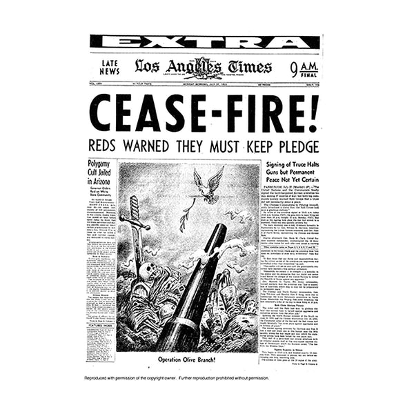 Historical Front Page - Cease-Fire
