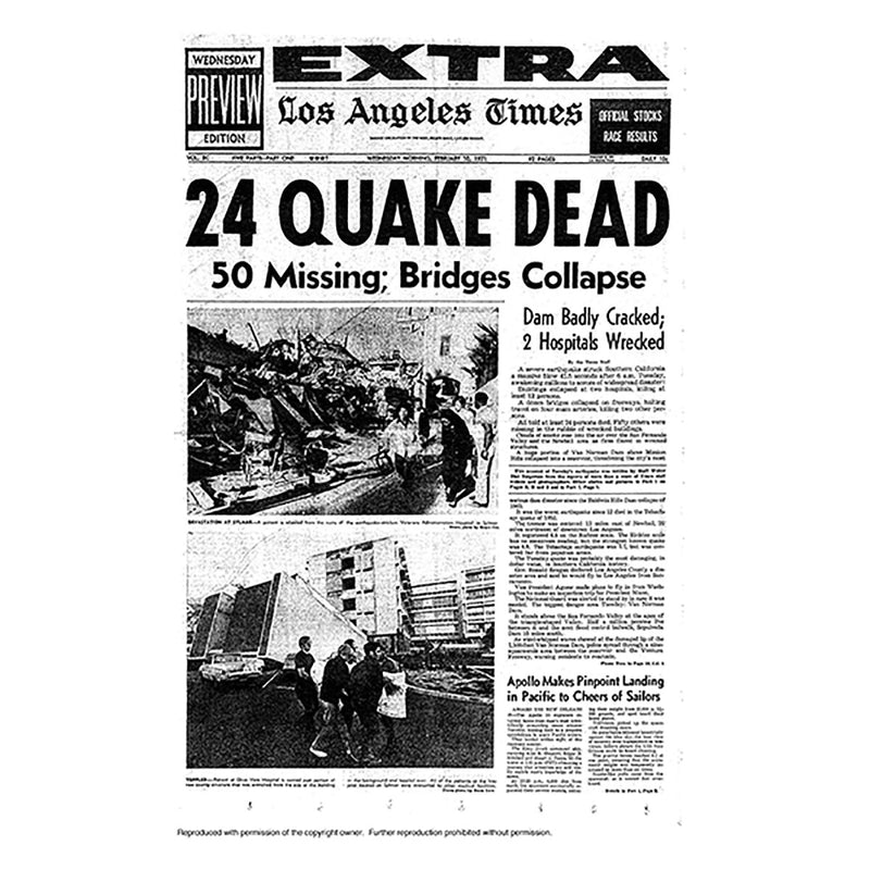 Historical Front Page - 24 Quake