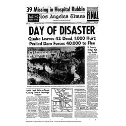 Historical Front Page - Day Of Disaster