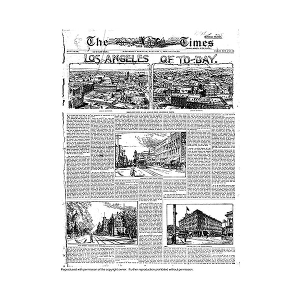 Historical Front Page - Los Angeles of Today