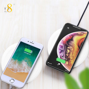 PC Qi Wireless Charger Dock Charging Pad For iPhone 11 Pro Max XS X 8 8Plus 7 6s