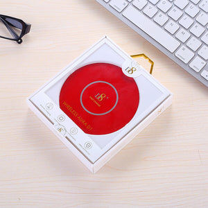 D8 Acrylic Aluminum Alloy Wireless Charger-Super SLIM DESIGN With USB Cable