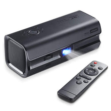 Load image into Gallery viewer, Mini DLP Movie Projector,iRULU HiBeam H60 2019 Upgrade Portable Projector,HDMI 1080P,VGA,AV,USB,Double Speaker Home Theater Projectors for Entertainment Gaming
