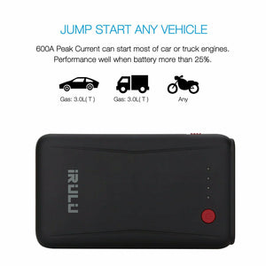 10800MAH CAR JUMP STARTER 600A PEAK JUMPER START BATTERY BOOSTER POWER BANK NEW
