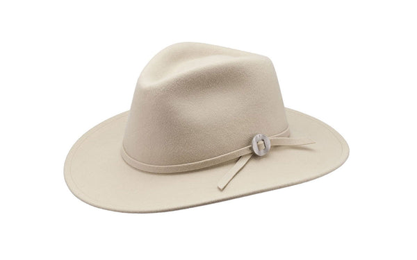 WILLA WIDE BRIM WOOL HAT - BUCKSKIN