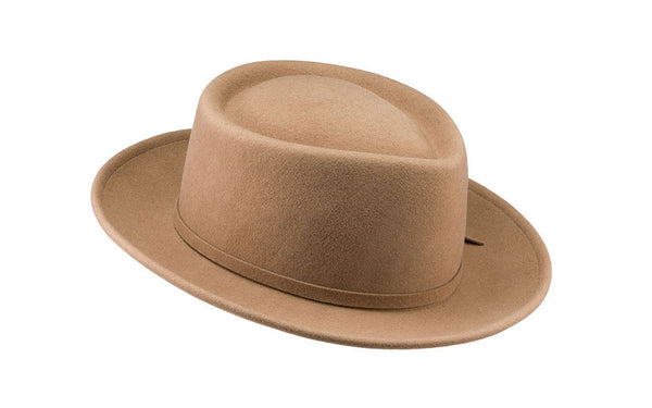 Noble Wool Fedora Hat - Camel