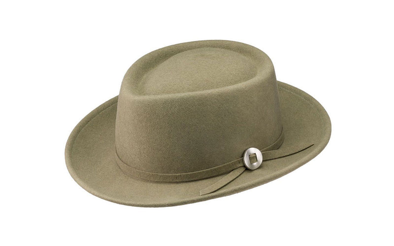 NOBLE WOOL FEDORA HAT - PALE OLIVE