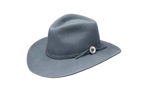 PHOEBE WIDE BRIM WOOL HAT - BLUESTONE