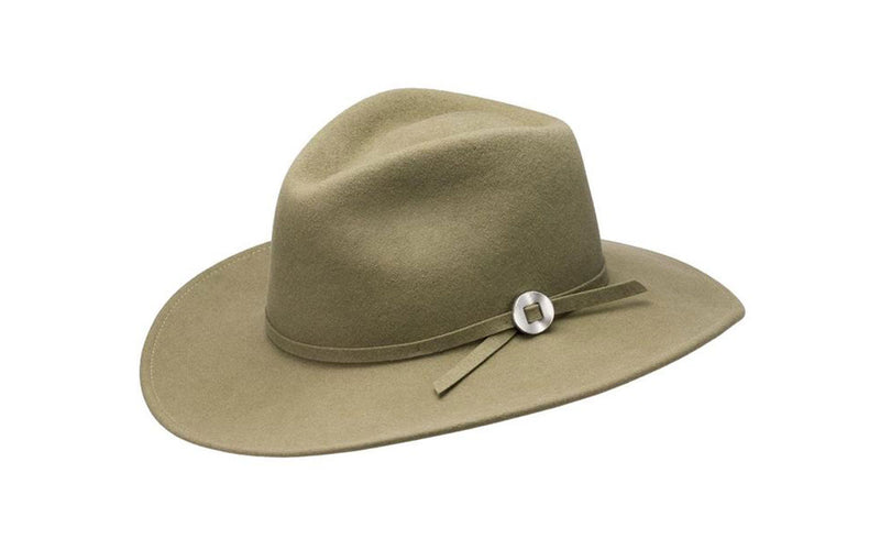 WILLA WIDE BRIM WOOL HAT - PALE OLIVE