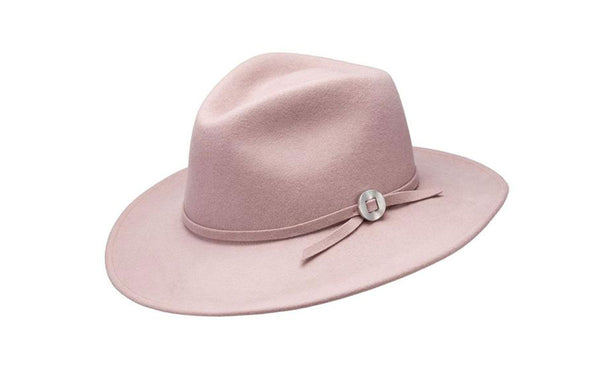 WILLA WIDE BRIM WOOL HAT - QUARTZ
