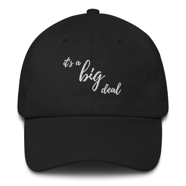 it's a big deal Black Cotton Cap
