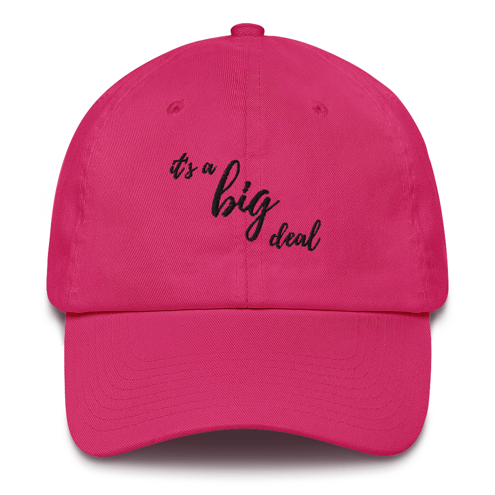 it's a big deal Pink Cotton Cap