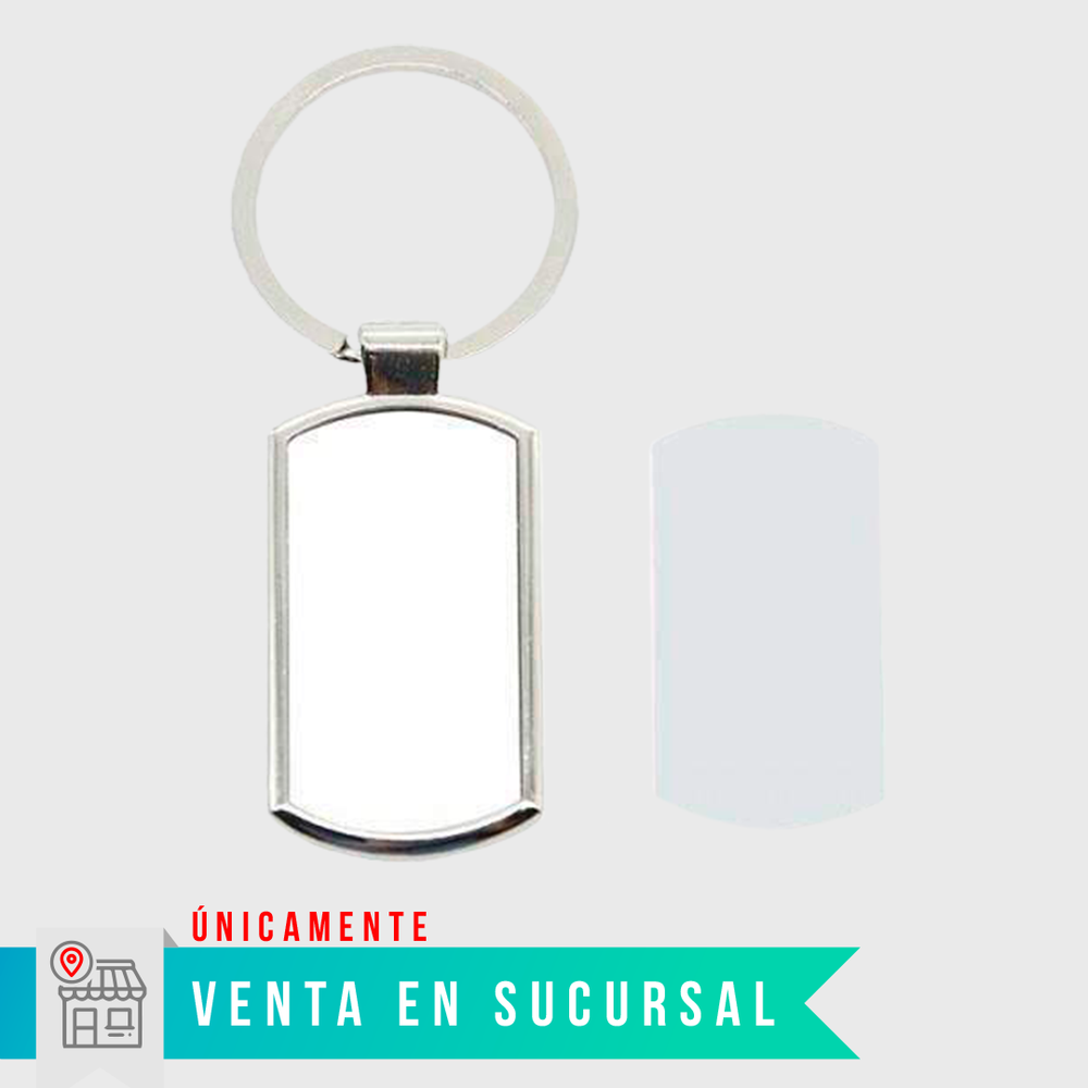Llavero sublimable rectangular $23 pesos