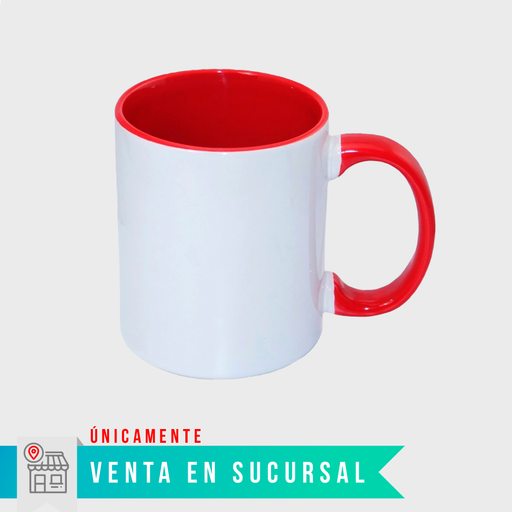 Taza para sublimación con color interior de 11oz $27.50 pesos - STM Robotics