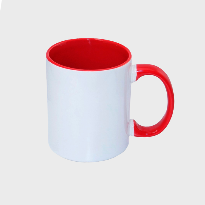 Taza para sublimación con color interior de 11oz $27.50 pesos