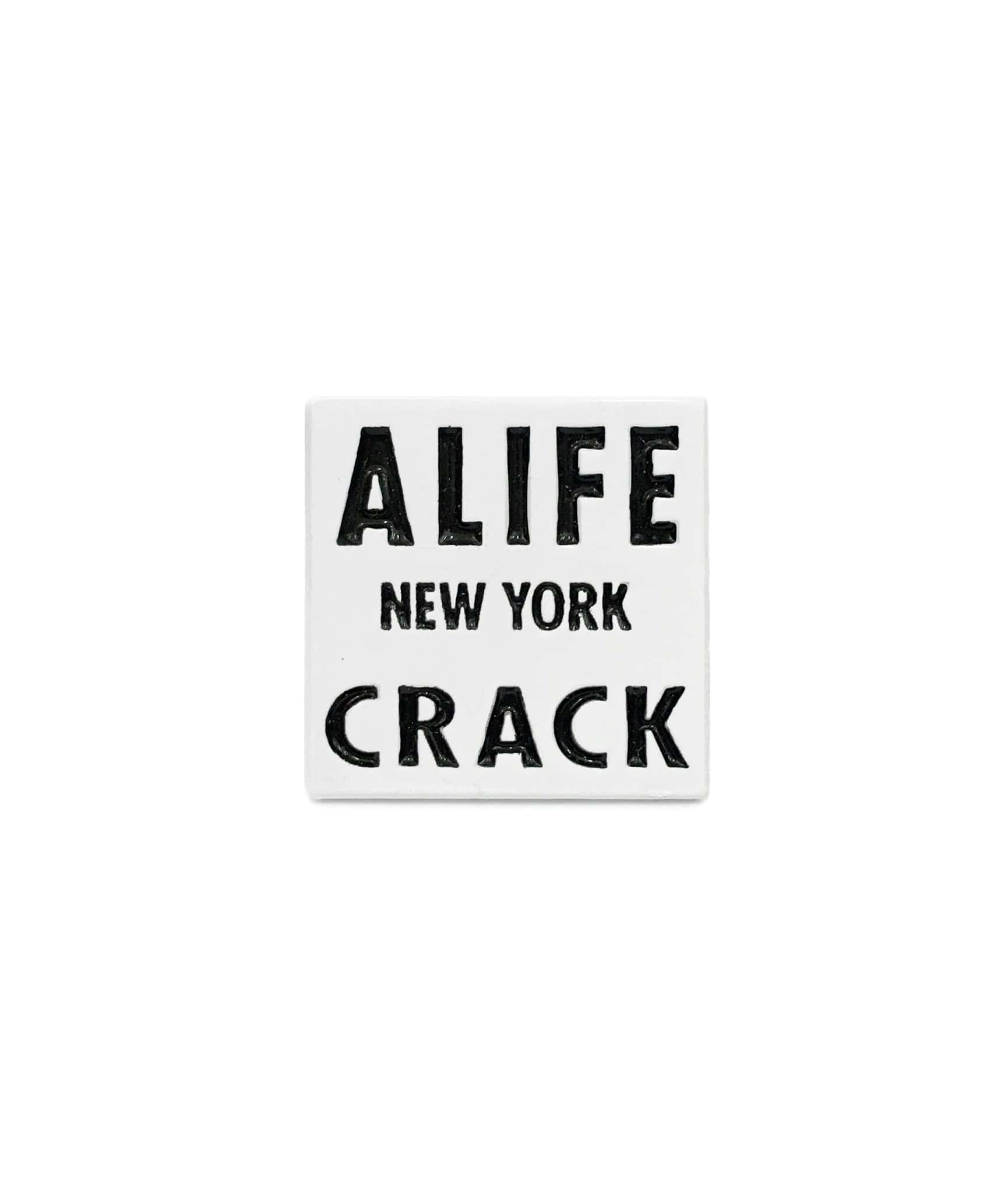 Alife New York Crack Square Pin