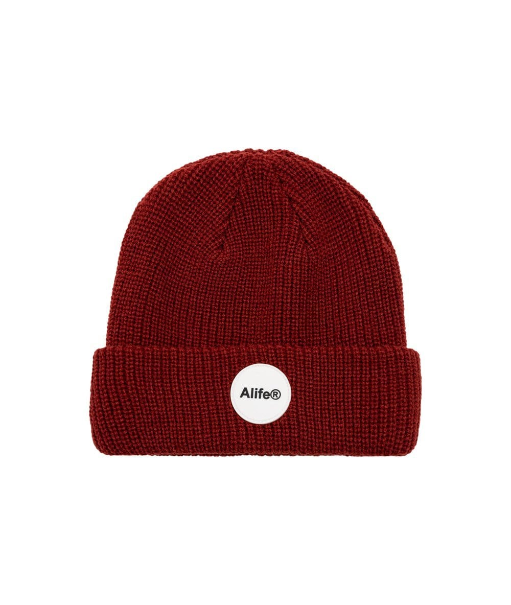 Alife Rubber Patch Beanie - Red