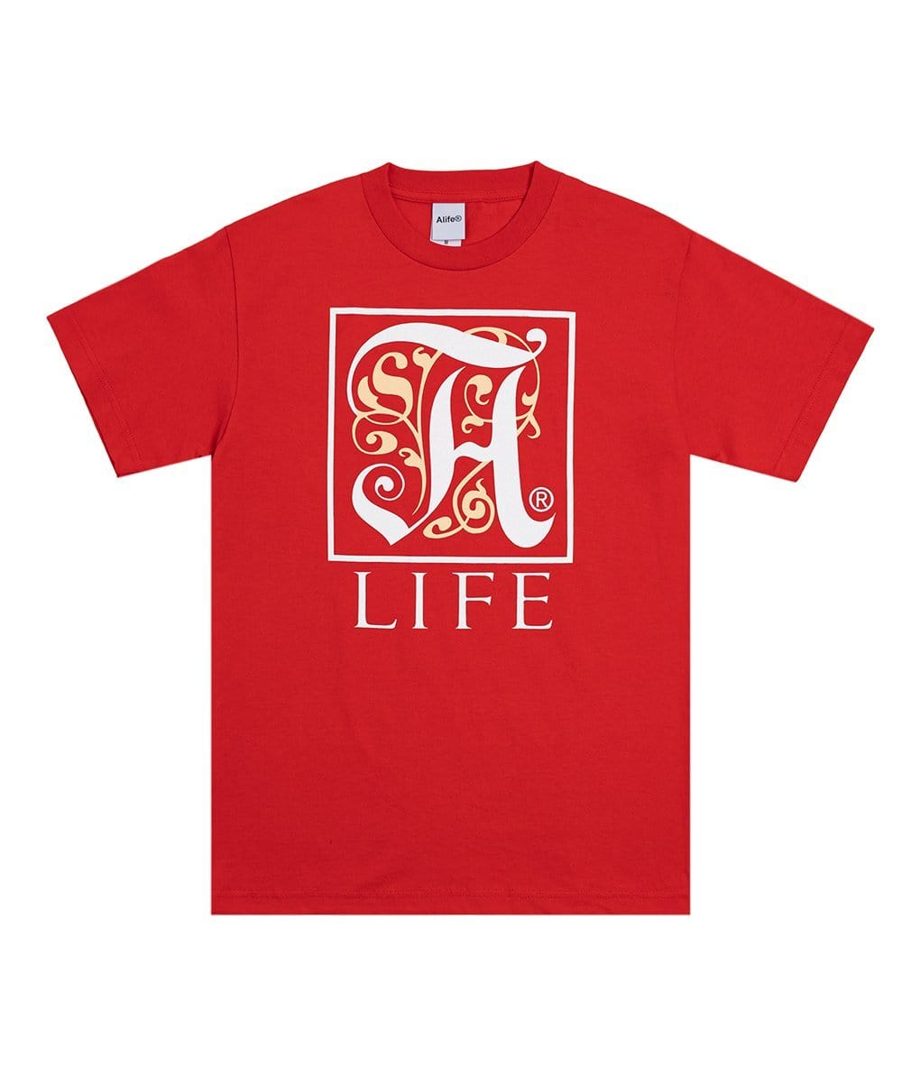 Alife Education Tee - Red