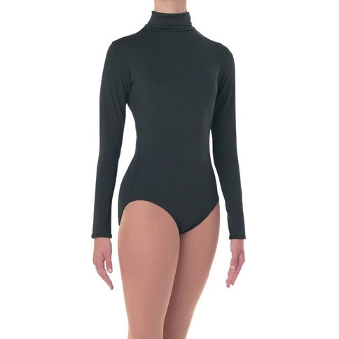 201 Body Wrappers Adult Long Sleeve Turtleneck Bodysuit with Snap Crotch