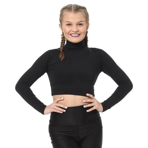 206 Body Wrappers Adult Long Sleeve Turtleneck Midriff Bodysuit