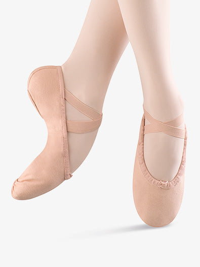 S0277L Bloch Ladies Split Sole Canvas Ballet Slipper (Pink)