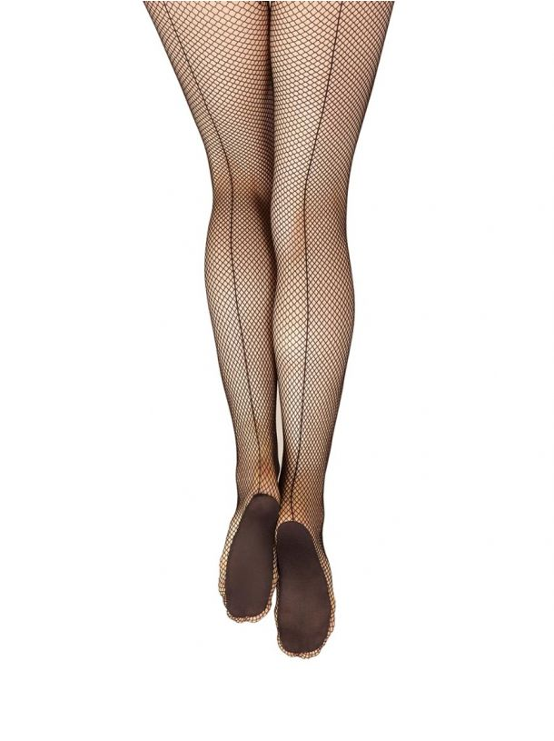 3400 Capezio Women's Professional Fishnet Tights with Backseam