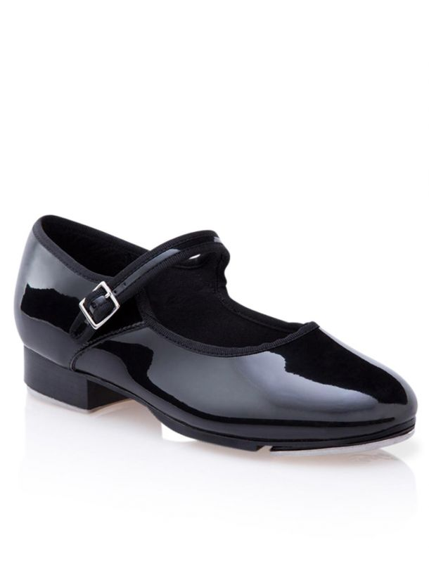 3800C Capezio Children Mary Jane Tap Shoe (Black Patent Leather)