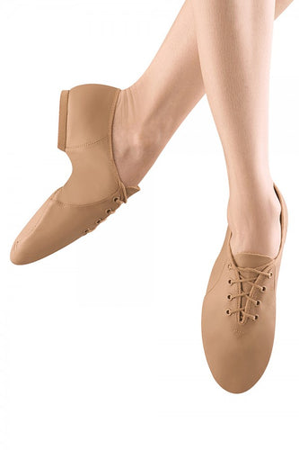 S0405 Bloch Jazzsoft Lace Up Jazz Shoe (Tan)