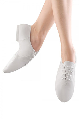 S0405 Bloch Jazzsoft Lace Up Jazz Shoe (White)